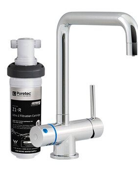 Puretec Z1-T5 Quick Twist Undersink Water Filter System with Tripla T5 LED mixer tap